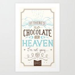 Chocolate lovers Art Print
