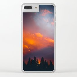 Bend Oregon: sunset & rainbow Clear iPhone Case