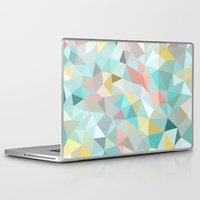 pastel Laptop & iPad Skins featuring Pastel Tris by Beth Thompson