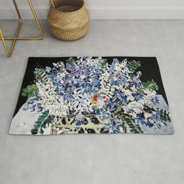 """""""Mixed Flowers in a Basket"""" by Margaret Preston Rug"""