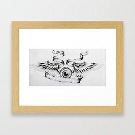 Eye Fly Framed Art Print