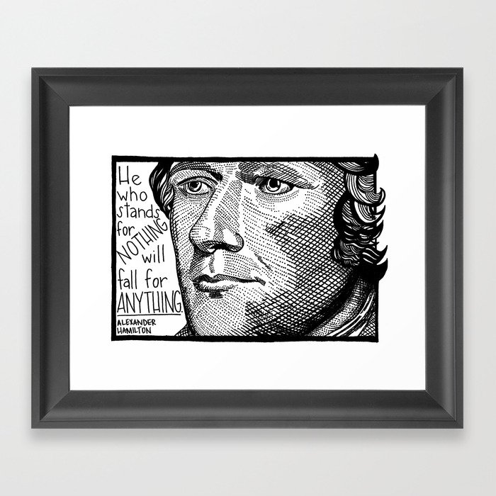 Alexander Hamilton Gerahmter Kunstdruck