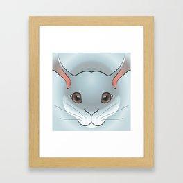 2D Rabbit Framed Art Print