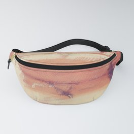 Wood planks shipboard texture Fanny Pack
