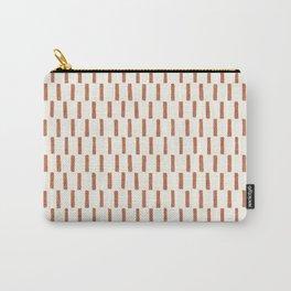 block print dash - terra cotta Carry-All Pouch