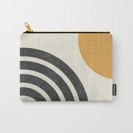 Mid century modern Sun & Rainbow Carry-All Pouch