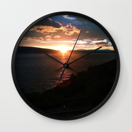 Sunset over the Adriatic Wall Clock