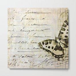 golden butterfly postale Metal Print
