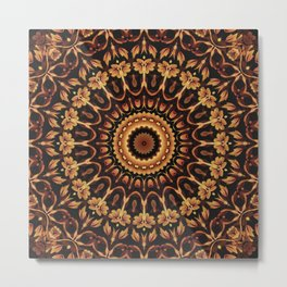 Autum Colors Mandala Metal Print