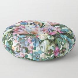 Romantic flowers II Floor Pillow