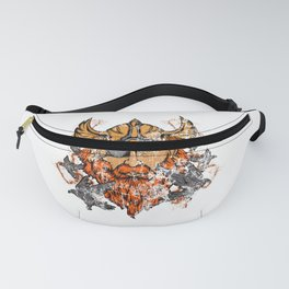 Odin & His Ravens Norse Mythology Distressed Fanny Pack