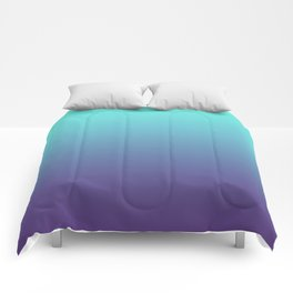 Ultra Violet Teal Ombre Gradient Pattern | Trendy color of the Year 2018 Comforters