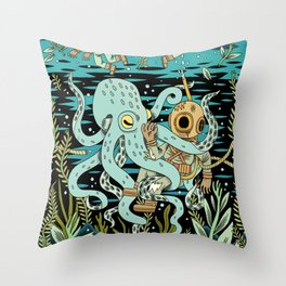 Diver Throw Pillow