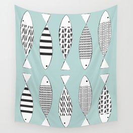 Nordic fish Wall Tapestry