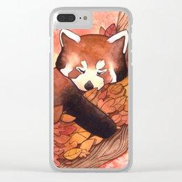 Cute Red Panda Clear iPhone Case