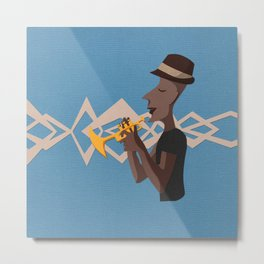 Jazz Trio - Trumpet Metal Print
