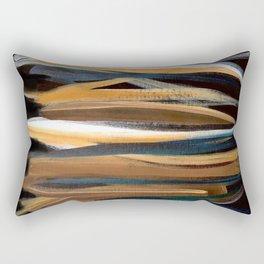 Brush Strokes on a Black Background Rectangular Pillow