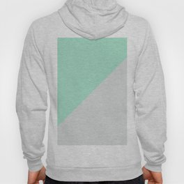 Turquoise gray abstract modern color block Hoody