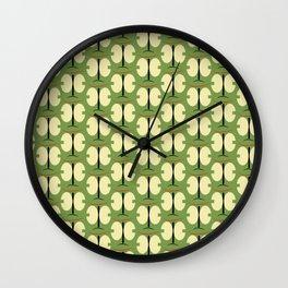 Japonese butterfly green Wall Clock