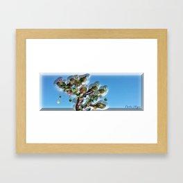 Xmas Joshua Tree Framed Art Print