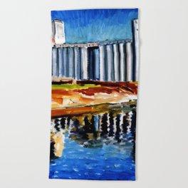 FIVE ROSES FLOUR REFINERY II Beach Towel