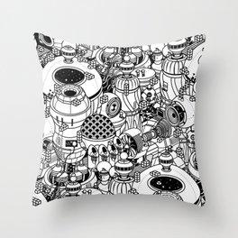 Dark Matter Space Machine Throw Pillow