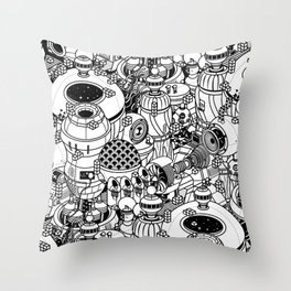 Dark Matter Space Machine Throw Pillow