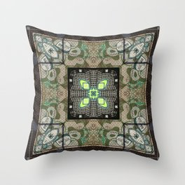Street art kaleidoscope 2 Throw Pillow