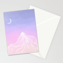 Big Bear Sunset with Moon Stationery Cards