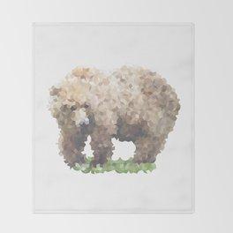Penrose Tiling Bear Throw Blanket