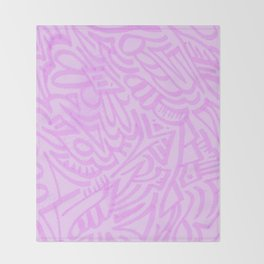 pink lady pattern Throw Blanket