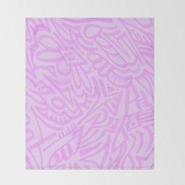 pink lady pattern Throw Blanket