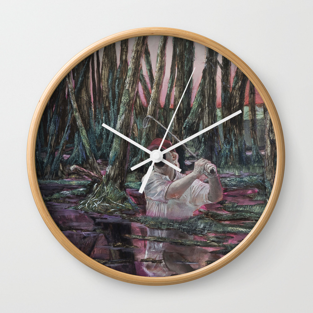 The Man Who Wasnt There Wall Clock by Amzartworks CLK8649991