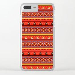 Orange ornament Clear iPhone Case