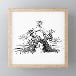 Salvador Dali Sketches- Figueres Framed Mini Art Print