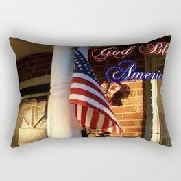 """God Bless America"" Rectangular Pillow"