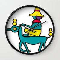 trip Wall Clocks featuring Trip by MRTN