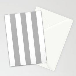 Philippine silver grey - solid color - white vertical lines pattern Stationery Cards