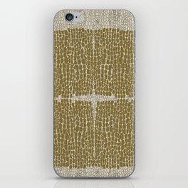 Golden skinny iPhone Skin