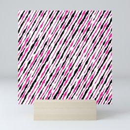 Pink and Black Pattern Mini Art Print