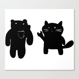 Bear and Cat Canvas Print