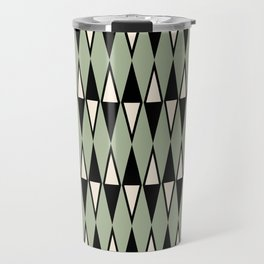 Mid Century Modern Diamond Pattern Sage Green 234 Travel Mug