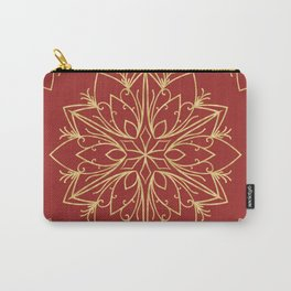 Golden Snowflake Carry-All Pouch
