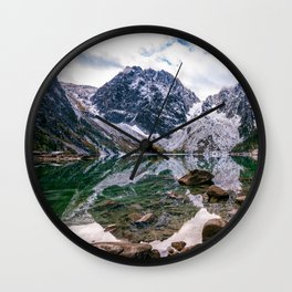Colchuck Lake Mountain Hiking Adventure Wall Clock