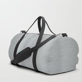 Aluminum Brushed Metal Duffle Bag