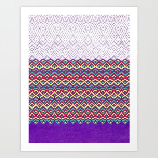 Horizons II Chevron Series Art Print