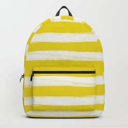 rusty yellow gross stripes Backpack