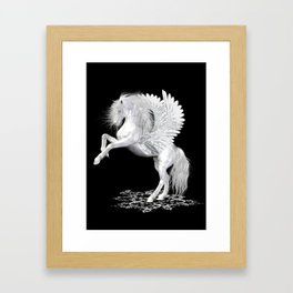 The Pegasus ..  StarFire .. fantasy horse Framed Art Print