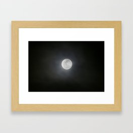 First Full Moon of 2018 Framed Art Print