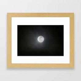 First Full Moon of 2018 Framed Art Print
